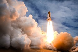 STS-135 blasts off for the International Space Station on July 8, 2011 as the final Space Shuttle mission.